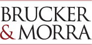 Red and Black Brucker & Morra Logo